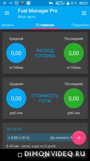 Расход топлива - Fuel Manager Pro