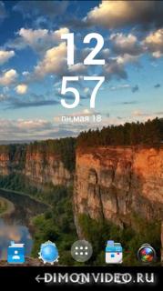 Xperia Z4 Clock Widget