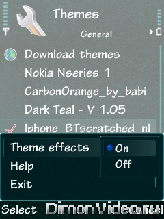 menu transition effect для nokia n95, n95 8gb и возможно дру