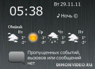 Замена шрифта в SPB Weather на s^3 anna