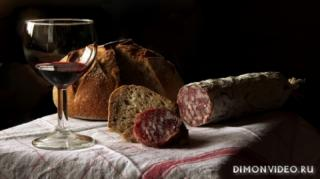 kolbasa-khleb-bokal-vino