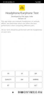 Earphone and Headphone Test