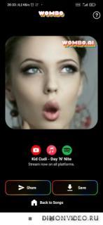 Wombo: Make your selfies sing