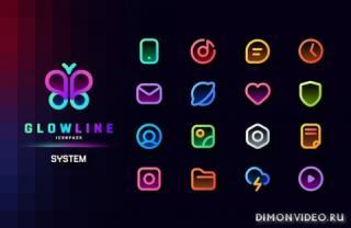 GlowLine Icon Pack