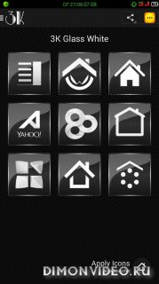 3K Glass White - Icon Pack