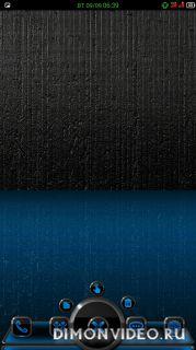 NEXT Launcher Theme NEON BLUE