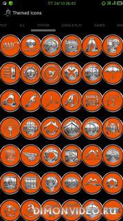 Orange Chrometalix-Icon Pack