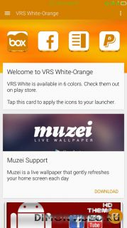 VRS White-Orange Icon Pack