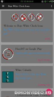 Rojo White Check Icons-Various