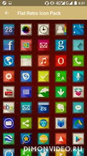 Flat Retro - Icon Pack