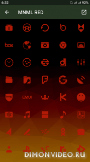MNML RED PRO ICON PACK