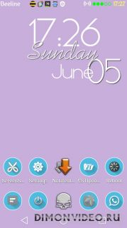 Shady Blue Launcher Theme v2.0
