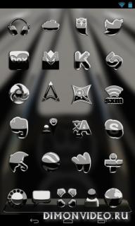 Black S Next Launcher theme