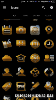 Black Gold HD Icon Pack