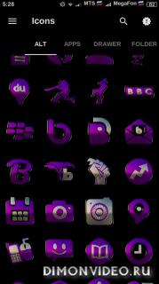 Black Purple HD Icon Pack