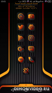 Crossed Orange Icon Pack