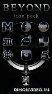 Beyond black platin icon pack HD 3D