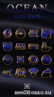 OCEAN icon pack blue black gold