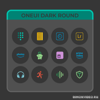OneUIDark Round - Icon Pack