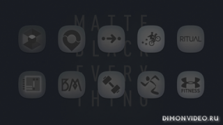Matte Black SQUIRCLE Icons