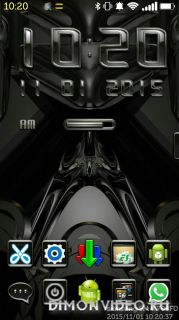 Ametal Digital Clock Widget