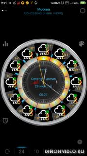 eWeather HDF: Погода на экране телефона и барометр