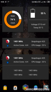 Widgets - CPU | RAM | Battery
