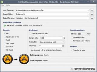 Context Menu Audio Converter