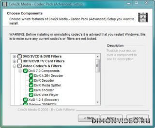 Cole2k Media Codec Pack Advanced