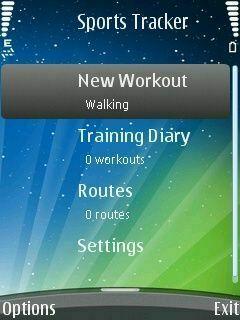 Sports Tracker для Symbian