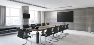 Какое оборудование используется для оснащения переговорных комнат?