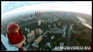 Красивый прыжок с московской высотки