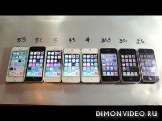 Сравнительный тест всех моделей iPhone