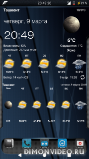Weather&Clock Widget mod light font