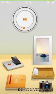 MiHome Free Desktop Theme - Warm Space